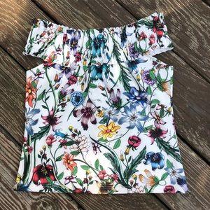 Zara flower crop top. Size 5
